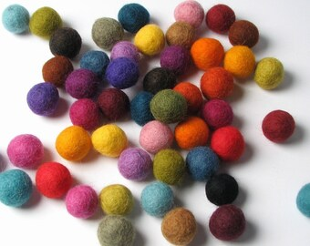 1.5CM Multi Mix - 50PC Felt Balls
