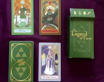 Legend of Tarot (Zelda) VERY Limited Edition & hard to find independent artist self-published deck. Brand New, w/ pdf guidebook