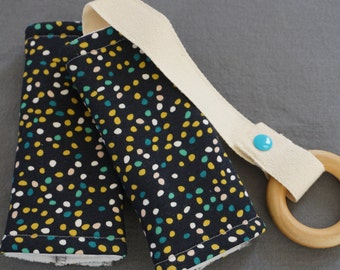 Firefly Dots Organic Baby Carrier Teething Pads. Drool Pads. Baby Wearing. Protective Pads. Teething Pads. Ergo. Boba. Beco. Lillebaby.