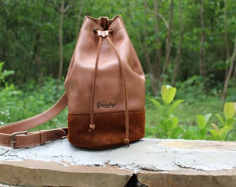 Leather Bucket Bag, Leather Shoulder Bag, Leather Crossbody Bag, Cross Body Bag, Leather Bag Women, Kate Bucket Bag