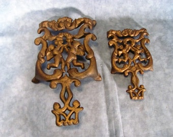 Pair of Wilton Brass Trivets with Cherubs