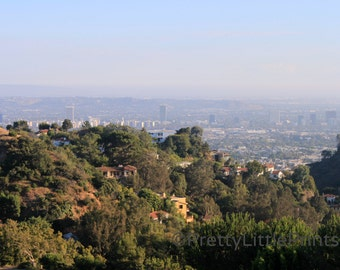 View over Los Angeles from the Hollywood Hills photographic prints