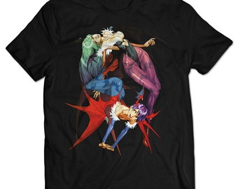 Darkstalkers Morrigan and Lilith T-shirt