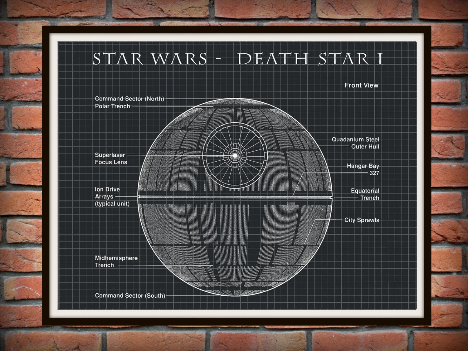 Star Wars Star I Patent Art Print Wall Poster - Drawing ... Star Schematic on