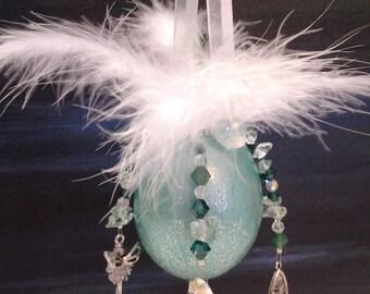 Lovely Green Faerie Egg Ornament