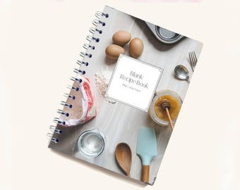 Blank Recipe Book | Cooking Pattern | Personal Recipe Book | Add your own recipes | Home Recipes | Recipe Journal | B0006