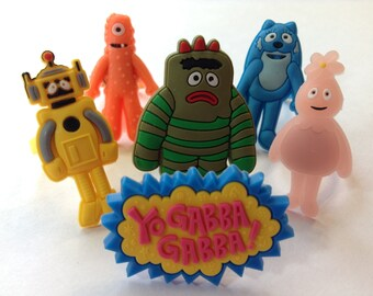Yo Gabba Gabba Rings Party Favors Cupcake Toppers