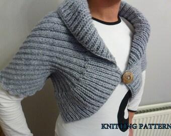 Shrug, Bolero, Wrap - Knitting Pattern
