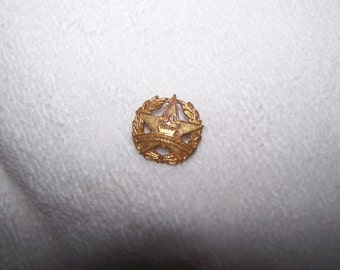 Gold Cross Star Missonary C Clasp Pin Brooch