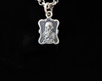 Antique Sterling Cast Tolstoy Necklace