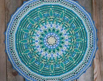 Overlay Mandala No. 7, crochet pattern, PDF in English, Deutsch