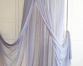 Gray Baldachin -  Tulle Canopy, Crib  Bed Mesh Canopy, Nursery canopy, Bed canopy, Play room canopy, Hanging Canopy, Nook, Photo