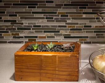 """Reclaimed Wood Planter Box Indoor/Outdoor 12""""x5.75""""x5.5"""""""