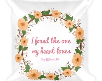 Easter sunday gifts etsy song of solomon love quote pilloweaster gift decorlove scripturechristian gift negle Images