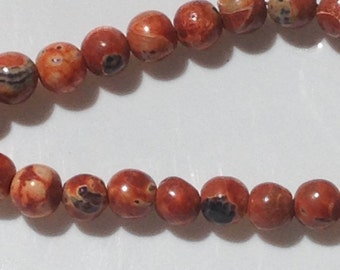 Dyed Fire Agate; 8mm; Round; 40 per strand