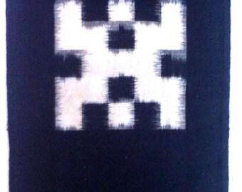 """Japanese indigo E-Gasuri 19th Century Meiji period. Handwoven. """"tate-yoko gasuri"""""""