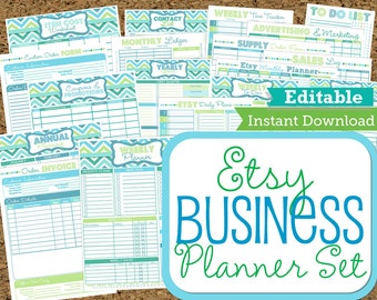 EDITABLE And INSTANT DOWNLOAD Etsy Business Planner Work At Home Planners 21  Documents