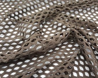 """Fishnet Nylon Spandex 60"""" Mocha / sold by yard"""