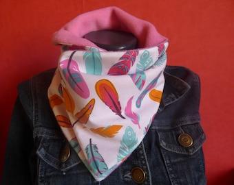 snood/scarf / neck scarf girl feather/boho