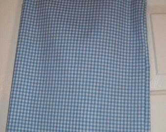 Blue Gingham Baby Blanket
