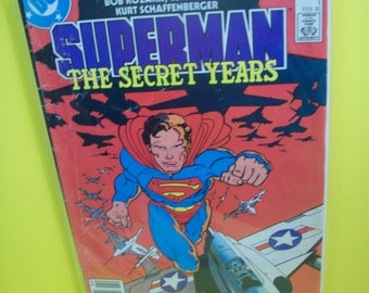 Vintage Comic Book Superman The Secret Years #1 Frank Miller Cover Clark Kent In College 1/ 4 Miniseries Good Condition 1985 DC Comic Book