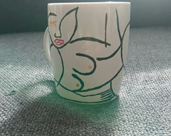 Mug 10cms naked and voluptuous