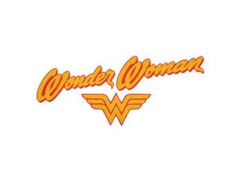 Wonder Woman Iron On Applique,  WonderWoman Applique, Wonder Woman Patch Glitter, Genuine DC Comics Iron On Patch, Superhero Applique