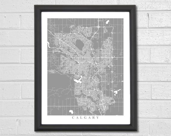 calgary map art calgary canada canada alberta calgary