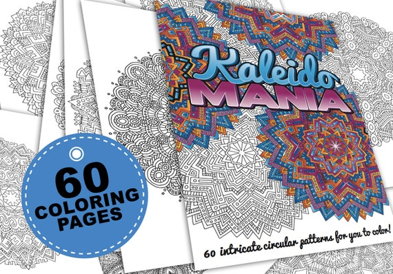 Intricate Coloring Pages For Adults : Mandala coloring pages kaleidomania printable coloring