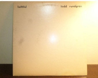 Vintage 1976 Vinyl LP Record Faithful Todd Rundgren Textured Cover Excellent Condition 8948