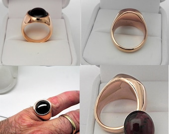 AAA Red Pyrope Garnet   14x12mm  8.53 Carats   in Heavy 14K Rose gold ring, Gold weight of 15 grams 3609