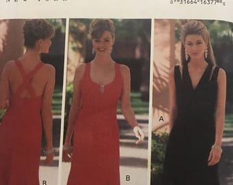 Crossover Straps Kathryn Conover Design Dress Pattern Butterick no.6747, Sizes 14-16-18, Uncut