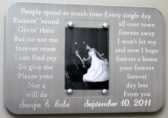 Steel Gifts 11th Wedding Anniversary: Steel Engraved 11th Anniversary Picture Frame For Wedding