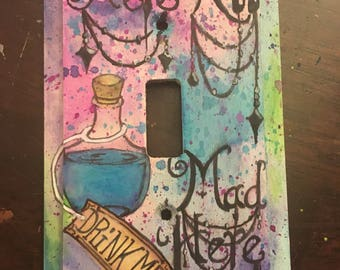 Alice in wonderland lightswitch cover