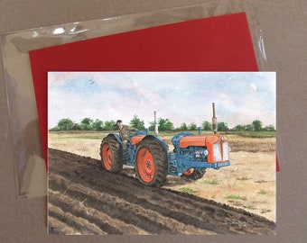 "Fordson Triple D tractor card 5 x 7"" with envelope"