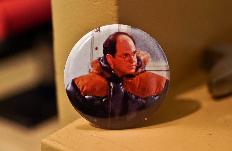 George Costanza Gortex Seinfeld 2.25 Pinback Button or