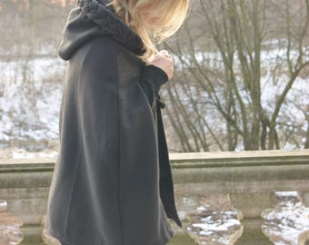 Cape, Poncho, Black
