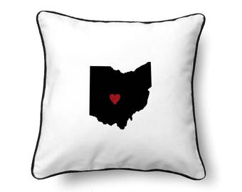 Ohio Pillow - Ohio Gift - Ohio Map - OH State Map