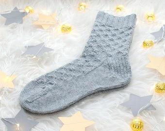 Wool socks Cashmere socks Womens knitted socks Winter socks Hand knit socks Warm socks Leg warmers Soft socks Valentines gift -MADE TO ORDER
