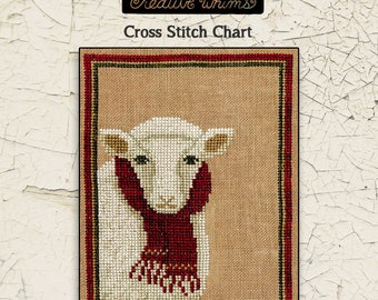 Sheep | Wool | Primitive | Cross Stitch Chart | Downloadable PDF | EPattern | Needlework | DIY | Crafts | For Ewe | XS165
