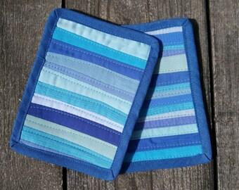 Art Quilts. Ocean View, Small Mini Quilts