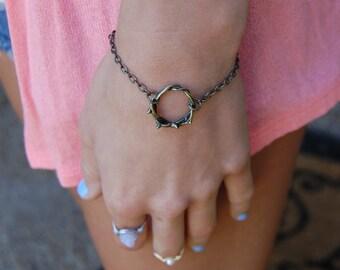 Crown of Thorns Bracelet, Bronze Bracelet, Faith Bracelet, Christian Bracelet, Christian Jewelry, Jesus Bracelet, Crown of Thorns, Bronze