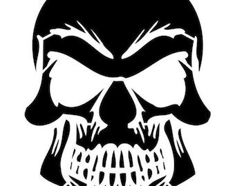 Grinning Skull Stencil by Crafty Stencils
