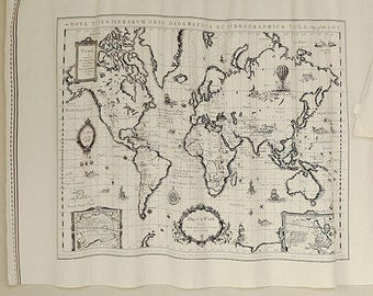 World map linen fabric world map curtain panel cotton linen world map retro vintage hanging tapestry linen map panel cotton curtain upholstery fabric material 175cm x 45cm wholesale 50 or 100 gumiabroncs Image collections
