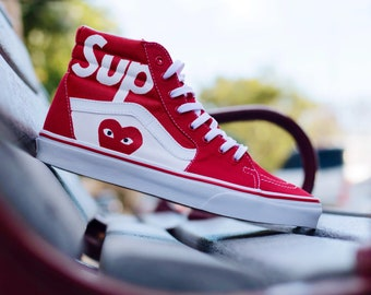 Supreme Vans CDG Shoes Custom Mens