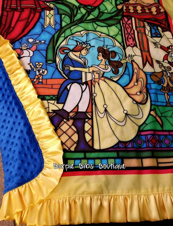 Beauty and the Beast Baby Blanket by BurpieBibsBoutique