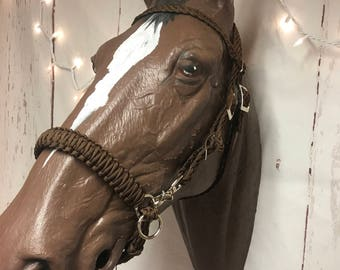 Bitless bridle, side pull hackamore, brown bitless bridle, side pull, naturalhorsemanship
