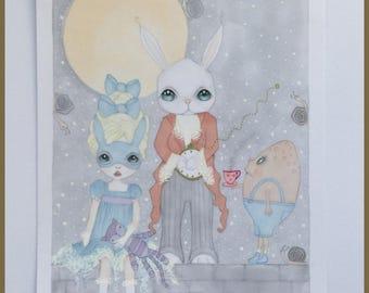 Original art Alice in wonderland lowbrow fantasy art
