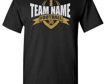 Football Mom Shirt. Custom Football Shirt.  Football Team Shirt. Football Spirit Shirt.  School Football Shirt.  Custom Football Shirt