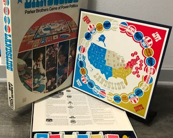 Landslide - U.S. Elections and Power Politics Board Game (1971) Parker Brothers